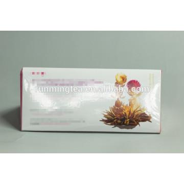 Caja de embalaje de caja de regalo personalizada caja de flores de té