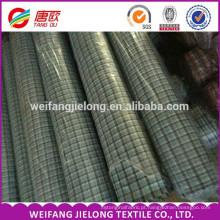 China Atacado Barato A Granel 100% Algodão Fio Tingido Xadrez Tecido Shirting e estoque de tecido Têxtil