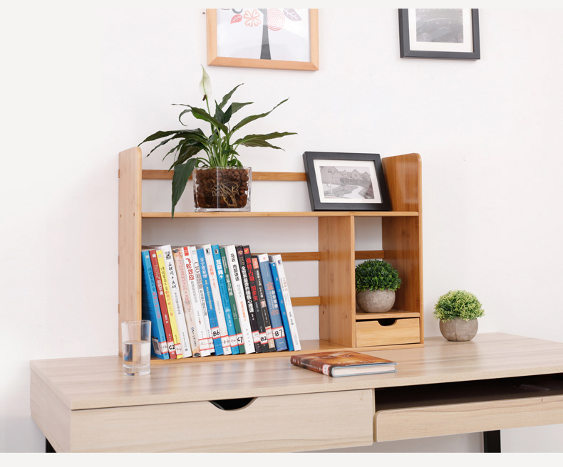 Exquisite Tabletop Bamboo Book Shelf