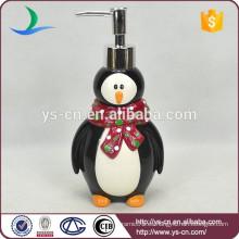 Accesorios de baño de cerámica pingüino Lotion Dispenser Penguin Shape