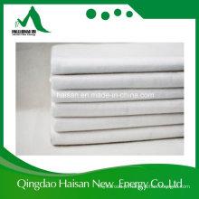 Matéria têxtil curta de Geo da fibra da cor 300g branca nenhuma tela tecida do poliéster
