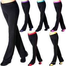 Perneiras de calça de compressão de mulheres para Yoga (JAP-139)