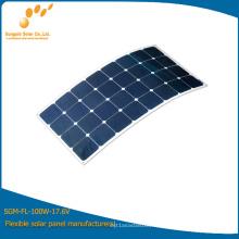 Panneau d'alimentation solaire flexible mono 100W