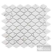 Schneewittchen-Druck-längliches Sechseck-Glasmosaik