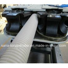Ligne d'extrusion de tuyau ondulé à double paroi en plastique / PE / PP