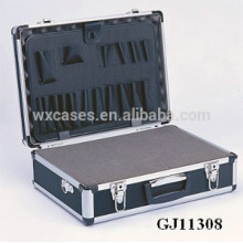 starke und tragbaren Aluminium Werkzeugkasten mit abnehmbaren gewürfelte Schaumstoff