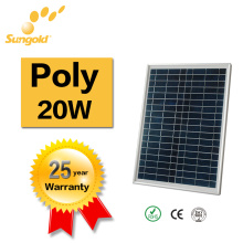 China Best PV Supplier Solar Panel Price of Poly Solar Panel 20W