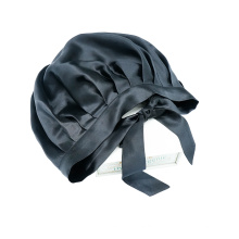 High quality solid color silk bonnet with ribbon