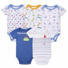 Gedruckte Cartoon Baby Kind Sommer Kleidung Großhandel Baby Overall Strampler