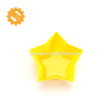 Venda quente Bonito Mini Cinco Estrelas Forma Bakeware Molde De Cupcake De Silicone Premium