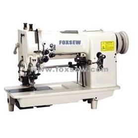 Двойной иглы мережкой зигзага швейная машина с брелока и резак