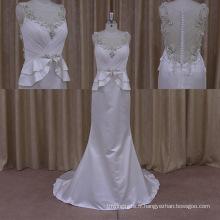 2015 Sexy Brilliant Crystal Modest robe de mariée en dentelle