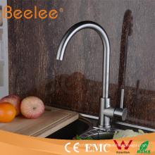 304 robinets d'eau de cuisine de col de cygne d'acier inoxydable Hs15010