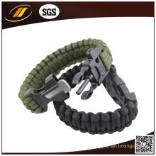 Colorful Color 7 Core Rope Braided Nylon Paracord Survival Bracelet (HJ7015)