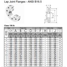 Flanges de junção de volta ANSI B16.5