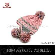 Großhandel Kinder Herbst / Winter Hut gestreiften Wolle Hut gestrickte Baby Beanie Hut Großhandel