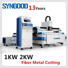 Metal Laser Cutting Machine Fiber 500W 1KW 2KW 3KW for carbon steel and stainless steel 0.5-20mm Syngood 1.5x3.0m