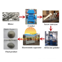 Separador de papel aluminio Blister farmacéutico