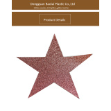 Holiday decorating adhesive glitter star for christmas decorating