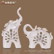 regalo de boda uso de material de cerámica lindo diseño elefante figurillas