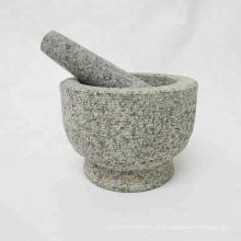 Almofariz e pilão de pedra de granito