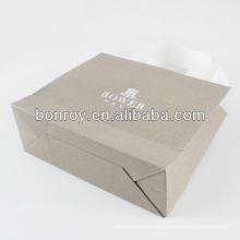 Напечатанный бумажный мешок/роскошные рекламные бумажный мешок с ручкой тесемки хлопка