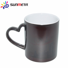 sublimation heart handle ceramic color change mug factory supply Yiwu Sunmeta