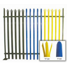 Hot Dipped Galvanized Powder Coated Palisade Fence