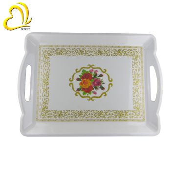 rectangle handle plastic wedding tray melamine serving tray