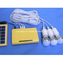 Three LED Bulbs Solar Lithium Battery Lighting Kits System
