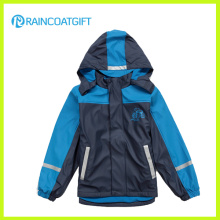 Chico de la PU de esquí Rainwear Rum-019