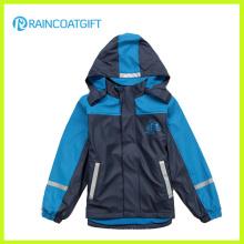 Jungen PU Ski Regenkleidung Rum-019