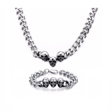 Großhandel Männer Silber Kette Shop Halskette Armband Schmuck-Set