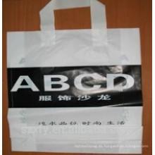 Logo impreso bolsa de plástico con mango
