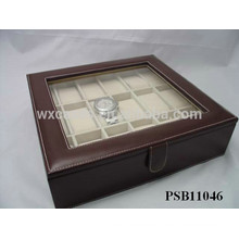 leather watch storage box for 18 watches wholesale