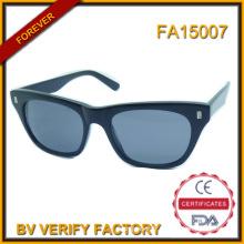 Nom de la marque italienne Fa15007 haute qualité de lunettes de soleil acétate