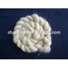 Sharrefun fine depilado y cardado 100% Cashmere Tops Ivory 16.5mic / 46mm