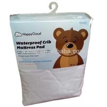 Weiche 100% Baumwolle wasserdichte Babybett Matratzenschoner Baby ausgestattet Matratze Pad