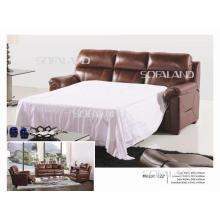 Sofá cama de couro da Itália 822 #