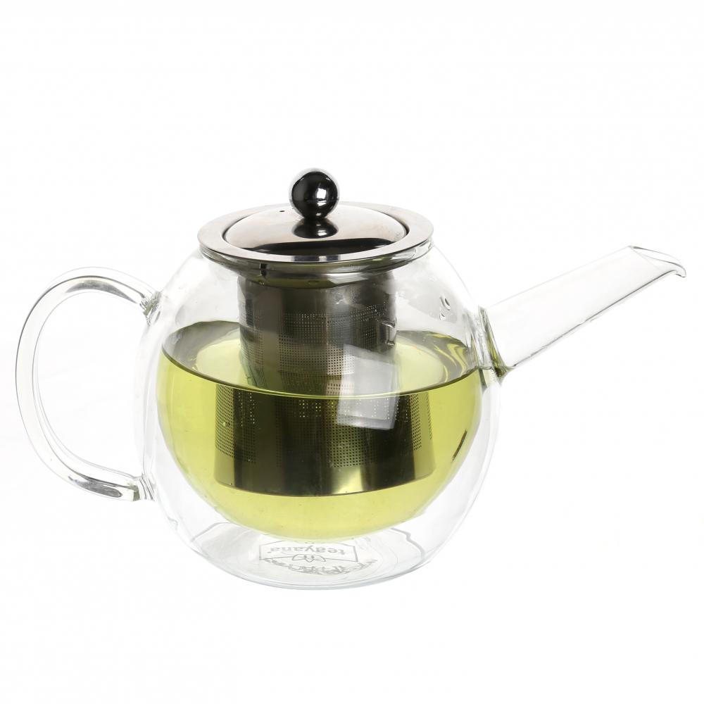 Double wall Glass Teapot Iced Tea Pitcher