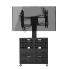 "Video Conference Stand 30-60"" Landscape & Portrait Cabinet Lockable (VRS 1000A)"