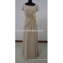 Madre de la playa de la novia vestido de noche manga corta MD8006