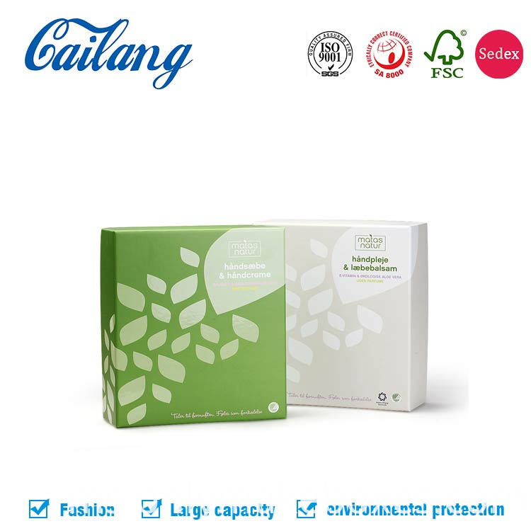 two pieces paper box with lid for cosmetics packaging