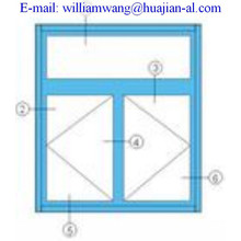 customized thermal break aluminium windows,shandong company