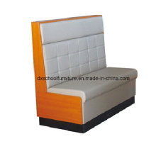 Leather Wood Sofa Loveseat for Bars, coffee Shop, Restuarant
