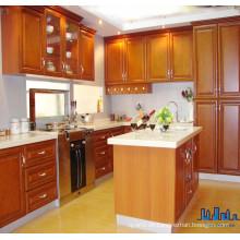 Hochwertige Art- und Weisealuminiumhandgriffe fester hölzerner Küche-Schrank