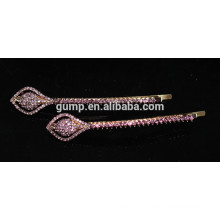 2015 New Shiny Rhinestone bobby pin Crystal Metal Barrettes