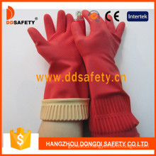 Long Red Household Latex Work Gloves