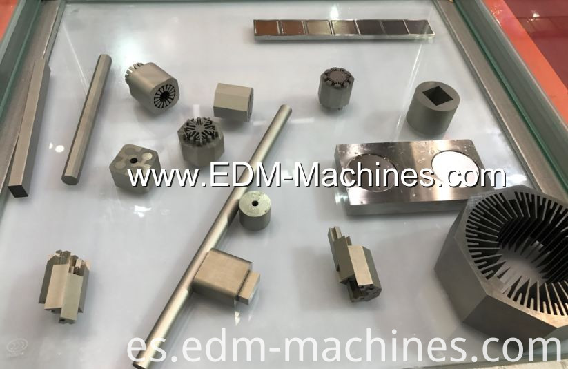 wire edm machine cutting sample
