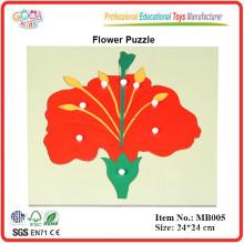 Montessori materiales, Montessori Botany Puzzle -Flower